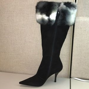 NWOT Garolini knee high suede boots